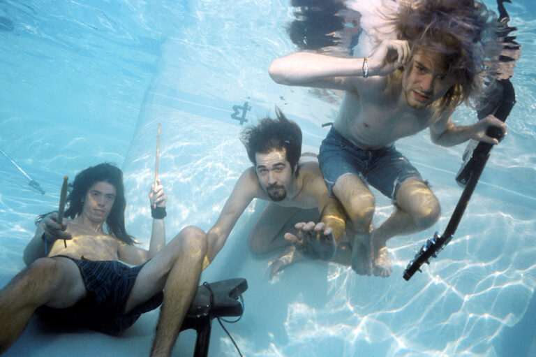 "Nirvana promo photo shoot by Kirk Weddle for the album ""Nevermind"""